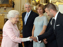 He was joined by the likes of Fearne Cotton and John Bishop at Buckingham Palace.