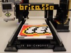 This amazing printer creates mosaic designs using Lego bricks