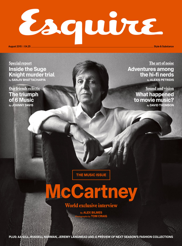 Paul McCartney for Esquire magazine