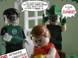 Green Lantern/Green Arrow #85 in Lego