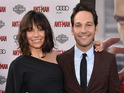 The actress shows off her bump on the red carpet alongside co-star Paul Rudd.