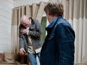 Paddy gets caught in the crossfire between Aaron and Robert in Thursday's episodes.