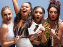The girl group celebrate the achievement with 113,000 combined sales.