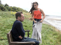 Nikki Sanderson and Jeremy Sheffield are seen working on location.