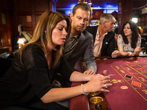 Nick insists on going to the casino with Carla and is aghast as he watches her recklessly gamble away hundreds of pounds