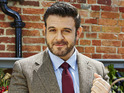 Adam Richman points out that BBQ Champ begins with fire and slabs of meat.