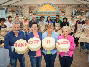 The Great British Bake Off 2015: Paul Hollywood, Sue Perkins, Mel Giedroyc, Mary Berry, The Great British Bake Off contestants