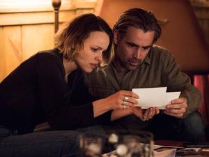 Colin Farrell and Rachel McAdams in True Detective S02E07: 'Black Maps and Hotel Rooms'