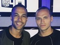 Marvin Humes poses with Joe Lenzie of Sigma
