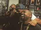 Kanye West catches up with Drake and Will Smith and shows that not only can he smile, he can even laugh