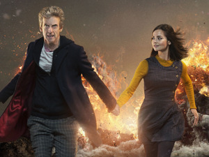 Doctor Who series 9 episode 1 The Magician's Apprentice Doctor and Clara