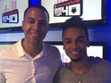 The former JLS bandmates reunited on Humes' Big Top 40 show for a quick interview about his new single.