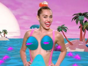 Miley Cyrus in MTV Music Video Awards promo video