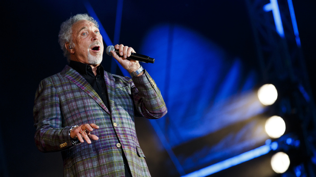 Sir Tom Jones performs on Day 1 of V Festival at Hylands Park.