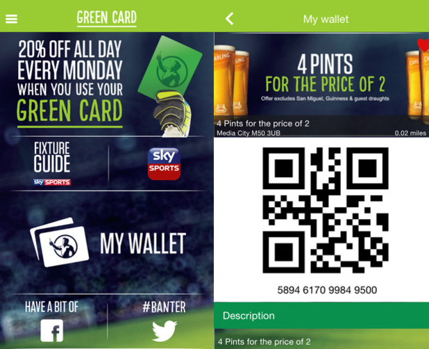 Green Card Pubs app