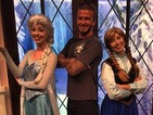 See David Beckham hang out with Frozen's Elsa and Anna
