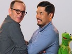 SHIELD photobomb! Clark Gregg awkwardly surprises Kermit the Frog in a hilarious teaser for The Muppets