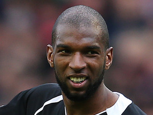 Ryan Babel with team-mates at a charity football match
