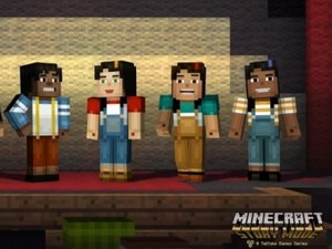 Screenshot from TellTale Games' Minecraft: Story Mode