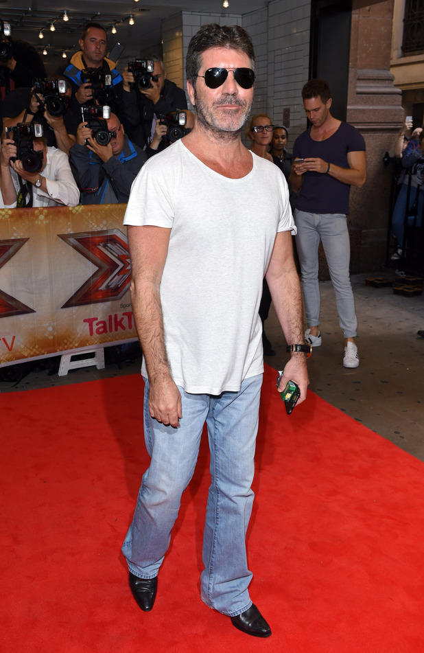 Simon Cowell attends the press launch of The X Factor