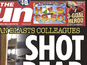 The Sun slammed over shooting front page