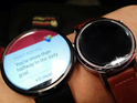 Smaller model of the Moto 360 2 appears beside the original in a leaked photo.