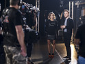 Olly Murs, Caroline Flack backstage at The X Factor