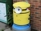 A town woke up to a load of Minion bins after a graffiti prankster went wild