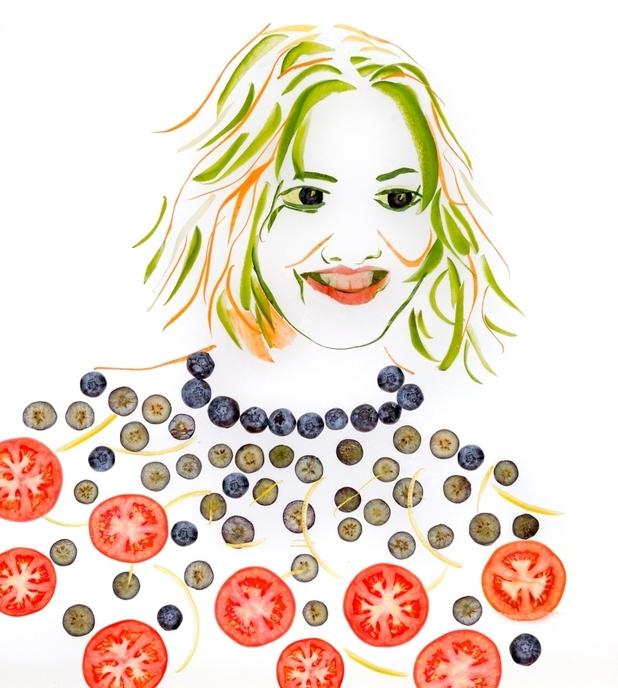 These X Factor judges fruit n' veg portraits aren't at all ... Cheryl Cole Slaw