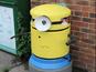 Prankster paints bins to look like Minions