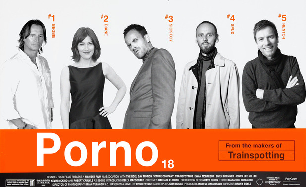 Trainspotting 2 ('Porno') mock poster featuring the original cast of Trainspotting