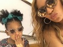 The singer strikes a pose during a family vacation in a series of cute snaps.