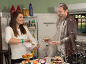 Stars of the Channel 4 soap start a food fight during a charity bake sale.