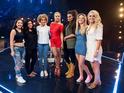 Rita Ora with her Girls category: Havva Rebke, Lauren Murray, Kiera Weathers, Monica Michael, Louisa Johnson and Chloe Paige
