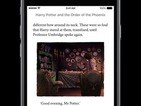 Harry Potter is finally available on iBooks with new enhanced editions and JK Rowling annotations