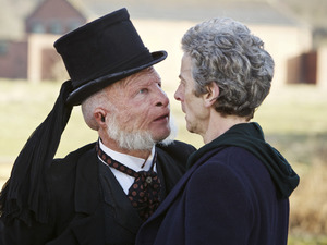 Paul Kaye & Peter Capaldi in Doctor Who episode 4: 'Before The Flood'