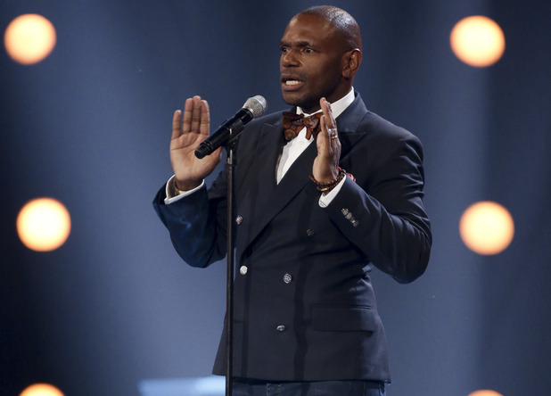 Anton Stephans at the X Factor Six Chair Challenge